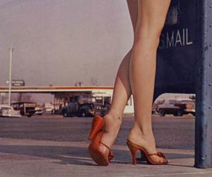 legs, vintage, and heels image