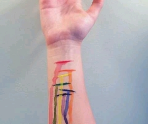 colors, hand, and hands image