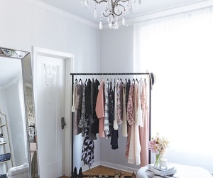 bedroom, interior, and clothing image