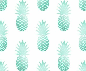 aqua, green, and pineapple image