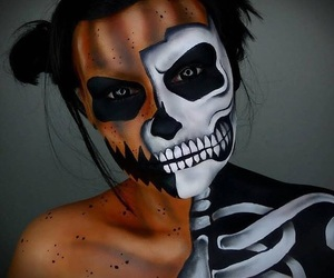 black and white, costume, and Halloween image