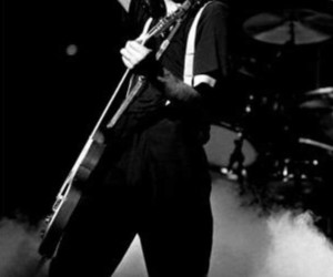 black and white, jimmy page, and rock image