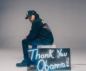 famous, chance the rapper, and barack obama image