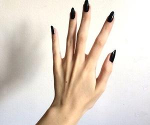 nails, black, and hand image