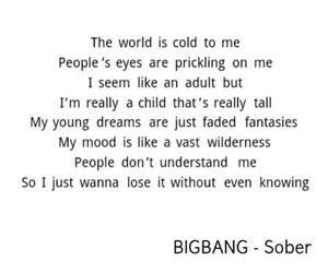 sober, words, and bigbang image