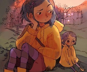 coraline, art, and draw image