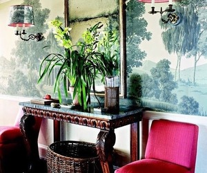 home decor, accent chairs, and hall table image