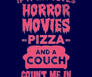 Halloween, horror, and pizza image
