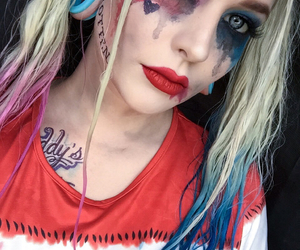 Halloween, harley quinn, and makeup image
