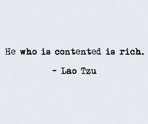 contentment, lao tzu, and quotes image