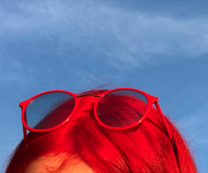 red, aesthetic, and hair image