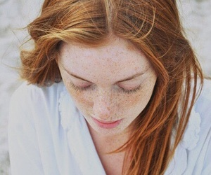 girl, freckles, and ginger image