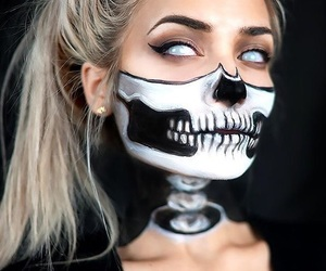 Halloween, illusion, and skull image