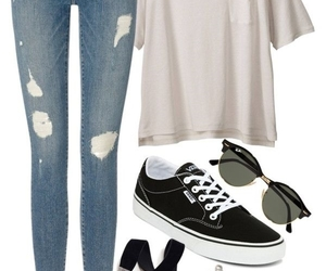 high school, outfits, and school image