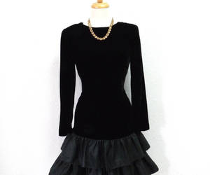 etsy, drop waist dress, and long sleeve lbd image