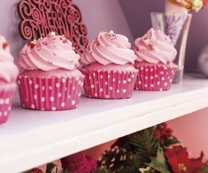 christmas, cup cake, and food image