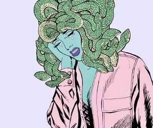 medusa, art, and pink image