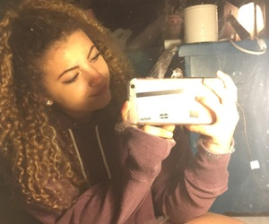 curly hair, eyebrows, and fall image