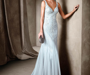 blue, Pronovias, and dress image