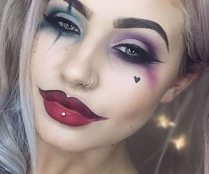 Halloween, harley quinn, and make up image