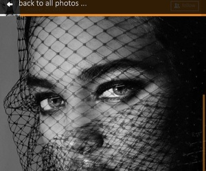 beautiful, black-and-white, and face image