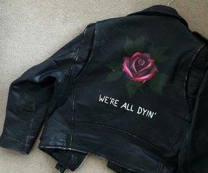 rose, grunge, and jacket image