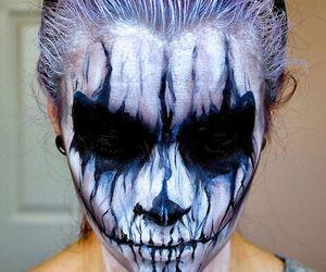Halloween, makeup, and creepy image