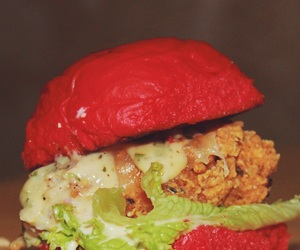 burger, red, and food image