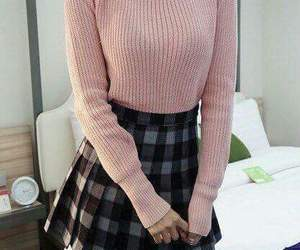 asian, pink, and sweater image
