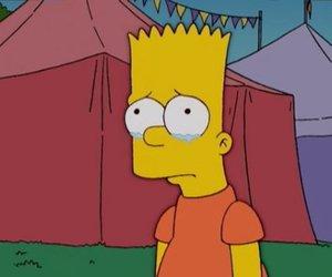 bart simpson, sad, and simpsons image