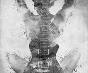 guitar, art, and music image