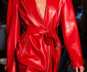 model, red, and fashion image