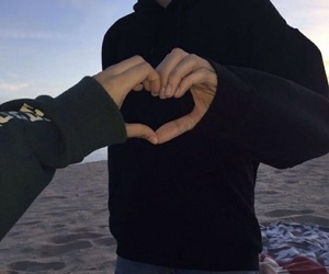 couple, love, and heart image