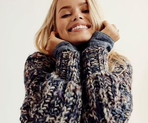 fashion, blonde, and sweater image
