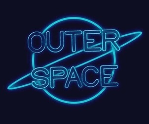 space, neon, and blue image