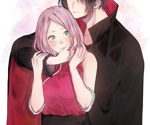 sasuke, sasusaku, and anime couple image
