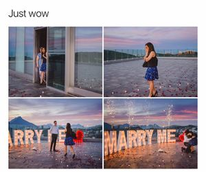 couple and marry me image