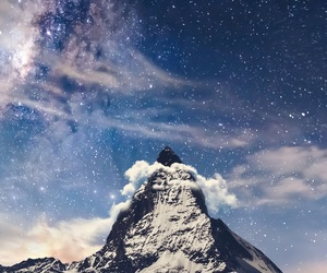 mountain and stars image