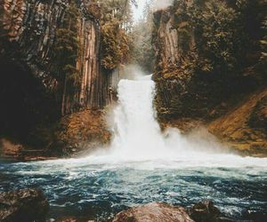 nature, waterfall, and travel image