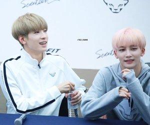 blonde, vocal line, and jeon wonwoo image