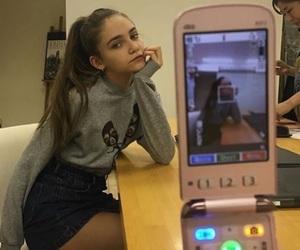 girl, phone, and tumblr image