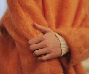 fashion, hands, and orange image