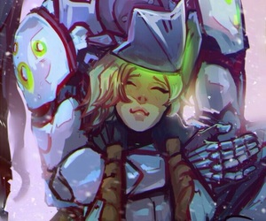 overwatch, mercy, and genji image