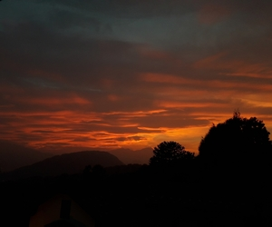landscape, red, and sky image