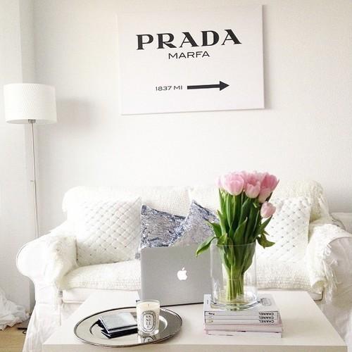 home, interior, and Prada image