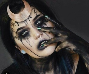 Halloween, makeup, and enchantress image