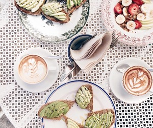 avocado, yummy, and coffee image