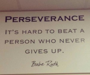 give up, never give up, and perseverance image