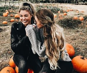 friends, autumn, and girl image
