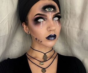 Halloween, makeup, and eyes image